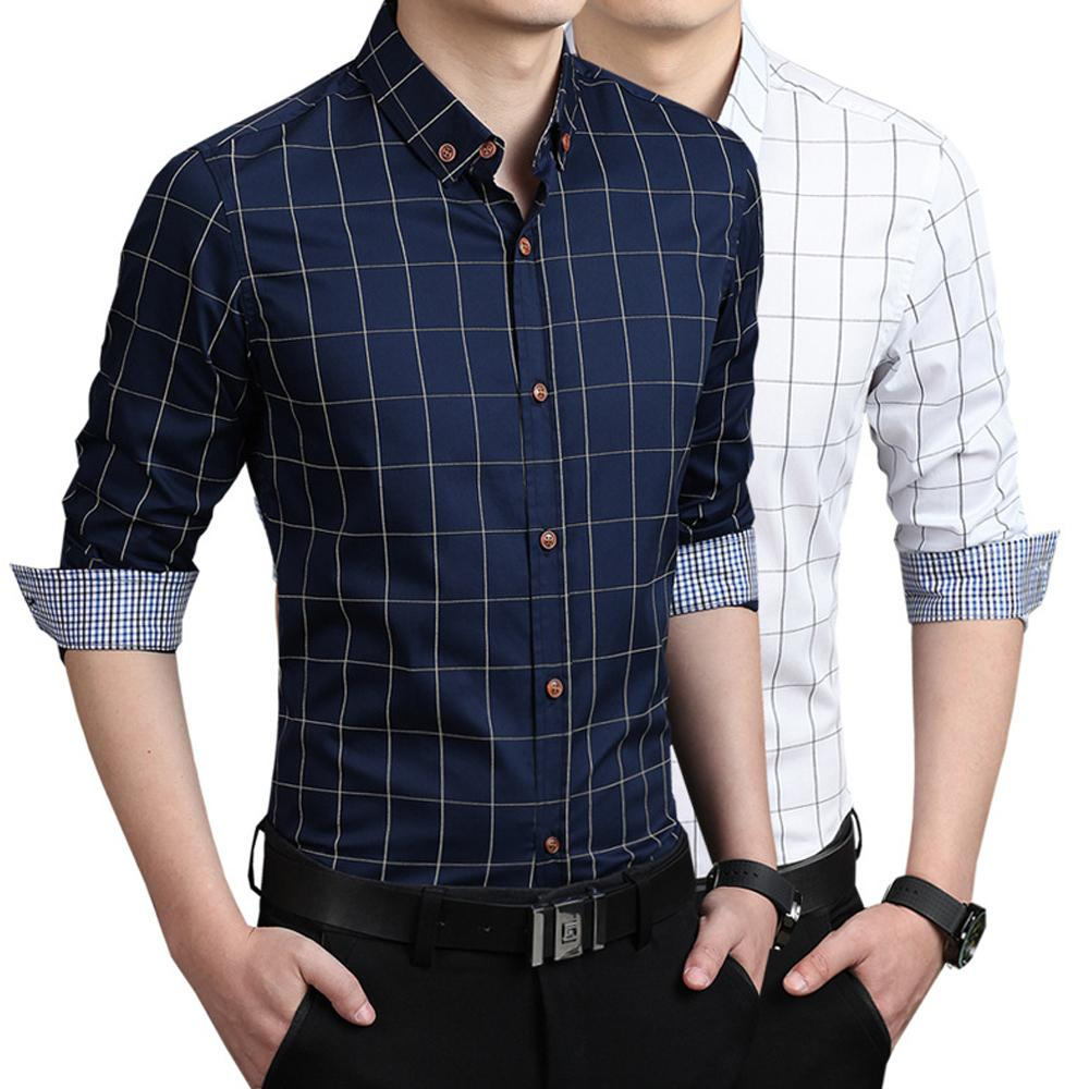 Mens Checkered Collar Shirt