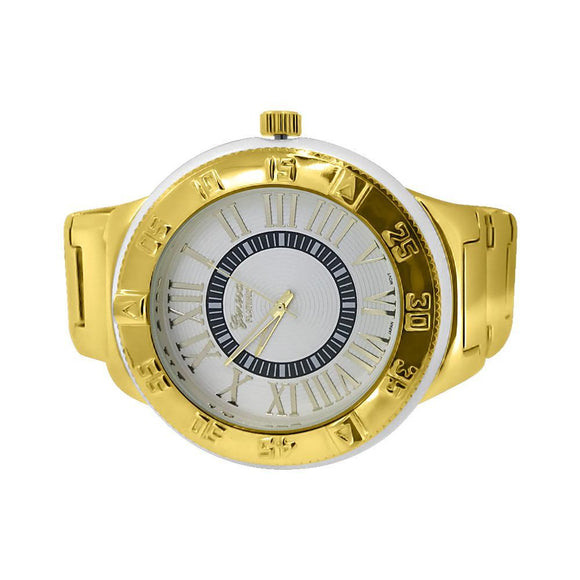 Huge Gold Elegant Fashion Watch - Presidential Brand (R)