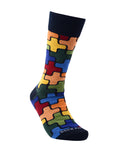 Sophisticated Puzzle Pattern Socks from the Sock Panda - Presidential Brand (R)