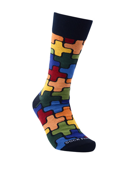 Sophisticated Puzzle Pattern Socks from the Sock Panda