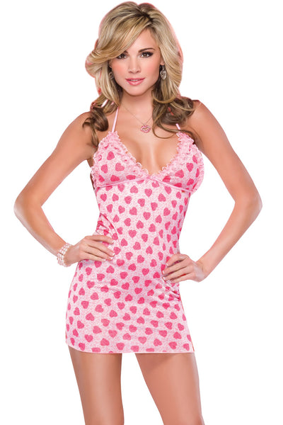 Halter Top Chemise Pink Plus