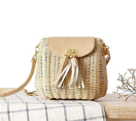 Wicker bag with Tassle - Presidential Brand (R)