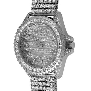 Wavy Watch  6 Row Ice Band - Presidential Brand (R)