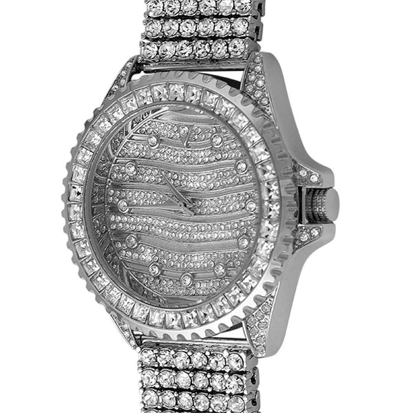 Wavy Watch  6 Row Ice Band