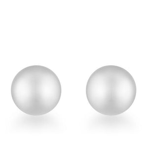 Tina Rhodium Sphere Stud Earrings - Presidential Brand (R)