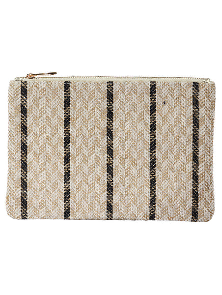 TRIBAL PATTERN WOVEN CLUTCH