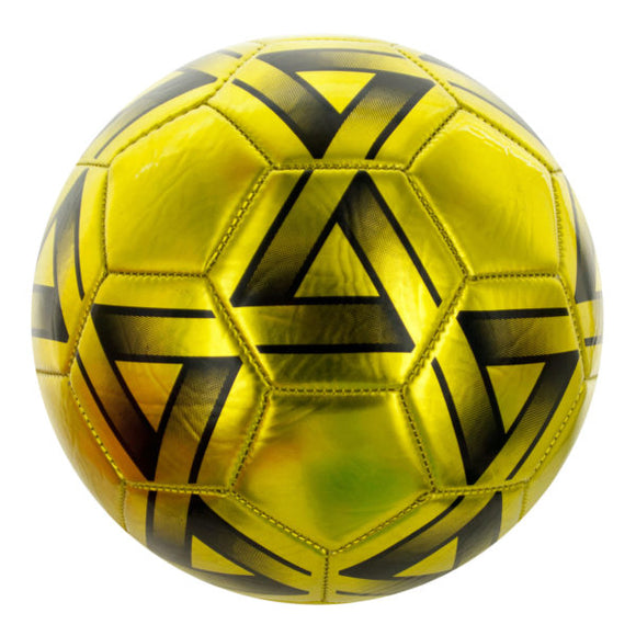 Size 5 Metallic Gold & Black Soccer Ball