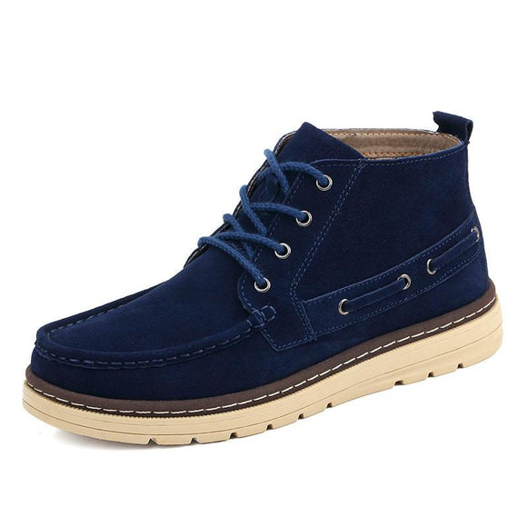 Mens Suede Leather Ankle Lace Up Boots - Presidential Brand (R)