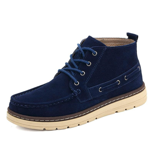 Mens Suede Leather Ankle Lace Up Boots