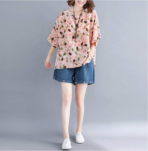 Womens Pattern Loose Fit Top