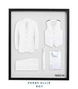 PB363-04 Perry Ellis Boys Suit White Suits - Presidential Brand (R)