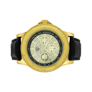 Tachymeter Gold Diamond Super Techno Watch - Presidential Brand (R)