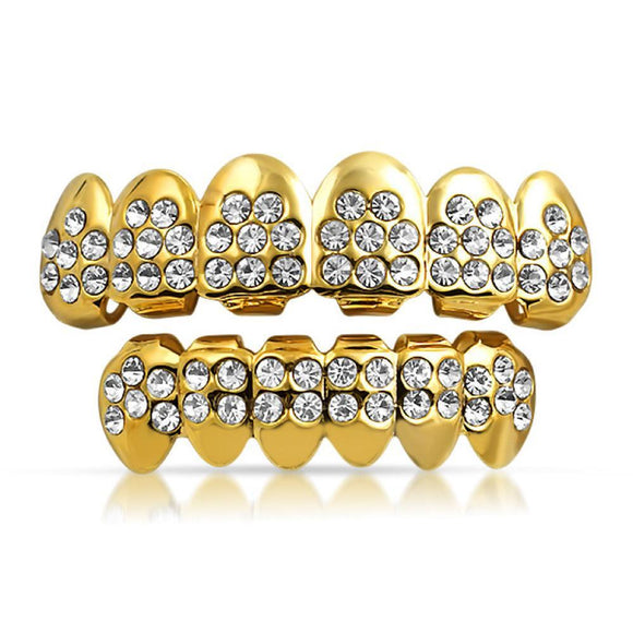 Gold Grillz Starburst Teeth Set - Presidential Brand (R)