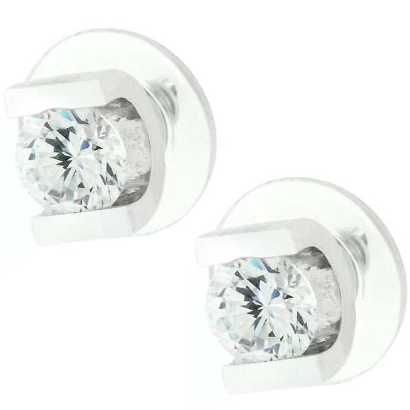 Brilliant Set Cubic Zirconia Earrings - Presidential Brand (R)