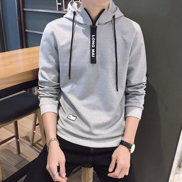 Mens Pull Over Hoodie with Zipper