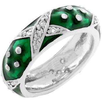 Marbled Forest Green Enamel Ring - Presidential Brand (R)