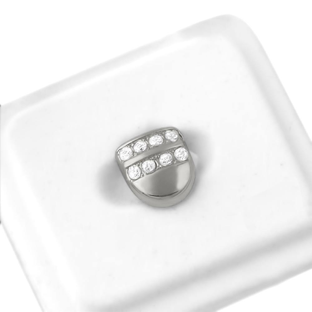 2 Row Ice Single Tooth Cap Grillz