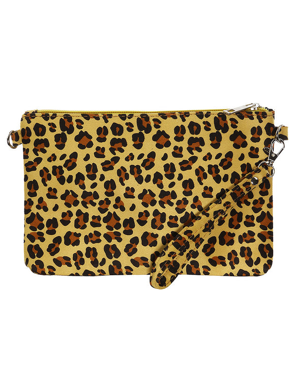 LEOPARD PRINT CLUTCH MAKEUP POUCH - Presidential Brand (R)