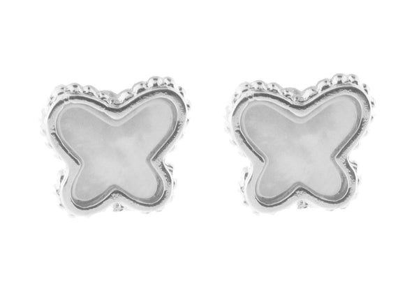 Mother of Pearl Butterfly Stud Earrings - Presidential Brand (R)