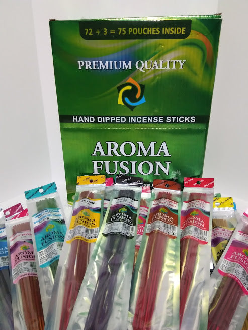 Aroma Fusion 75 Count Hand-Dipped Incense Display - Presidential Brand (R)