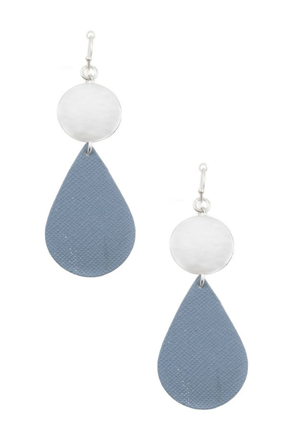 Ladies fashion disk link teardrop earring - Presidential Brand (R)