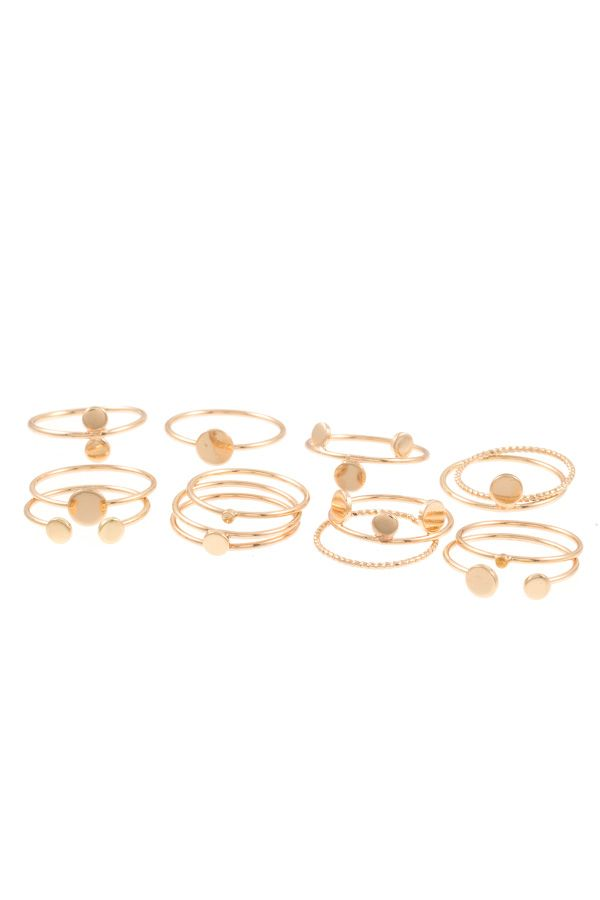Ladies fashion multi ring set