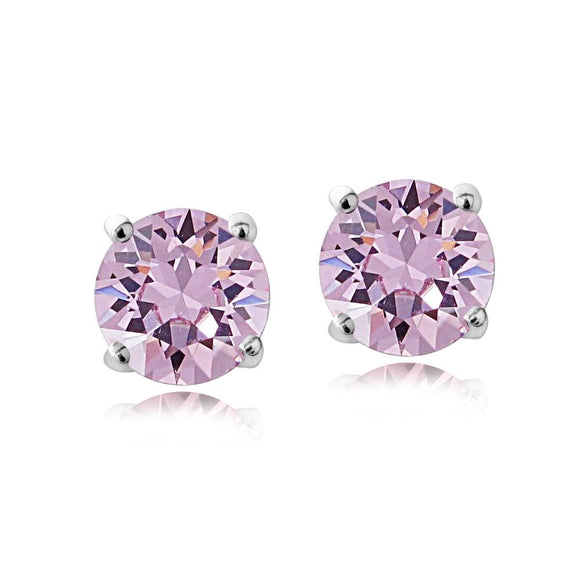Swarovski Elements Alexandrite June Birthstone Stud Earrings - Presidential Brand (R)