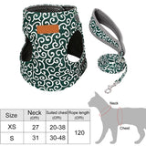 Pet Dog Cat Vest Outdoor Travel Harness Leash Set for Puppy Cat Rabbit Floral Pattern Kitten Walking Harnesses Pet Cat Products - Presidential Brand (R)