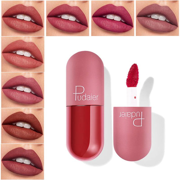 Mini Capsule Shape Lip Glaze Matte 18 Colors Lip Gloss Waterproof Long lasting Velvet Moisture Nude Lip gloss Lip Makeup TSLM1 - Presidential Brand (R)