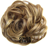 Synthetic Flexible Hair Buns Curly Scrunchy Chignon Elastic Messy Wavy Scrunchies Wrap For Ponytail Extensions For Women Child - Presidential Brand (R)