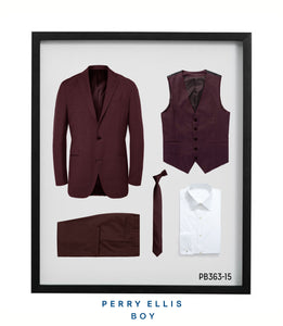 Perry Ellis Boys Suit Burgundy Suits For Boy's - Presidential Brand (R)