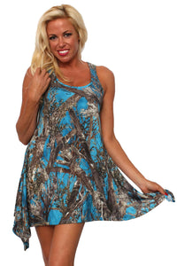 Women's Camo Flare Dress Authentic True Timber Apparel Made in the USA - Presidential Brand (R)