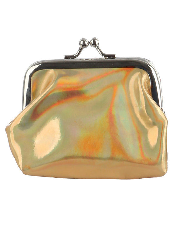 IRIDESCENT VINYL COIN POUCH - Presidential Brand (R)