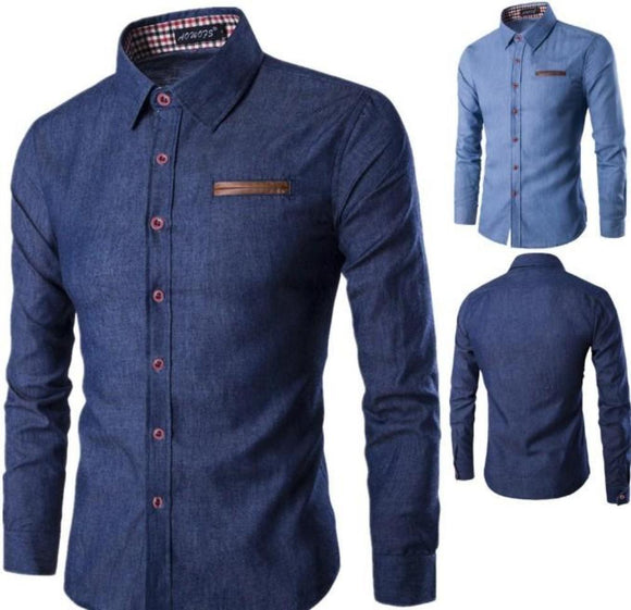 Mens Slim Fit Denim Shirt - Presidential Brand (R)