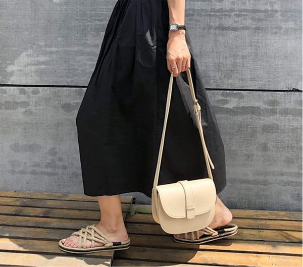 Womens Snap Button Crossbody Bag
