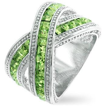 Twisting Green Ring - Presidential Brand (R)
