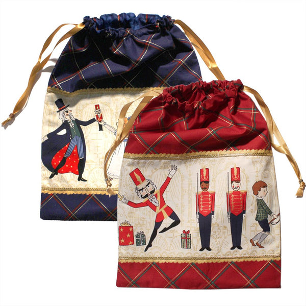 Nutcracker Illustrations Drawstring Tote - Cotton
