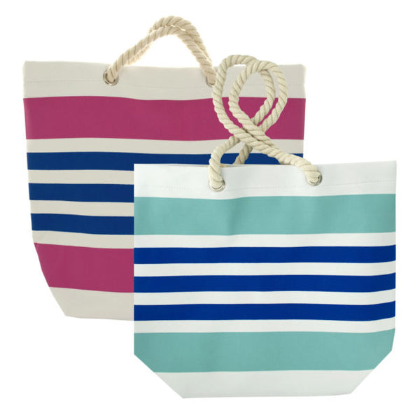 Striped Tote Bag with Rope Handles - Presidential Brand (R)