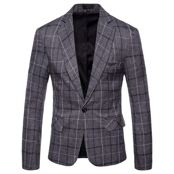 Mens Checkered Blazer - Presidential Brand (R)