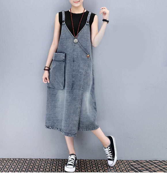 Womens Denim Dress with Pocket - Presidential Brand (R)