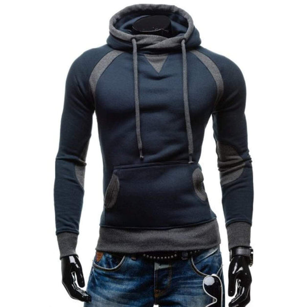 Mens Two Tone Pullover Hoodie With Pockets