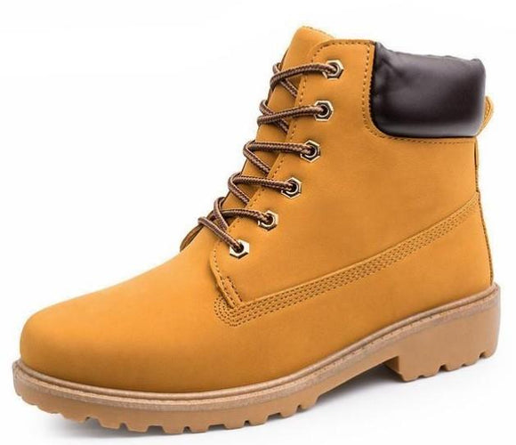 Mens Military Style Outdoor Boots in Yellow - Presidential Brand (R)