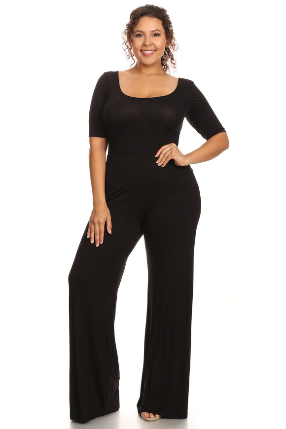 Plus Size Women's Palazzo Pants Hight Waisted Made in the USA - Presidential Brand (R)