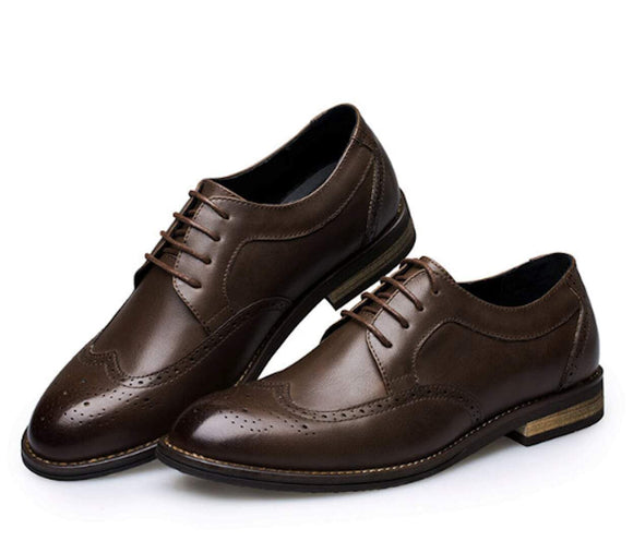 Mens Classic Wingtip Oxford Shoes
