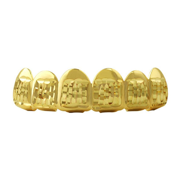 Diamond Cut Gold Grillz Classic Top - Presidential Brand (R)