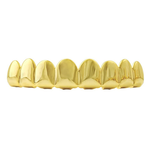 8 Tooth Gold Grillz Top - Presidential Brand (R)