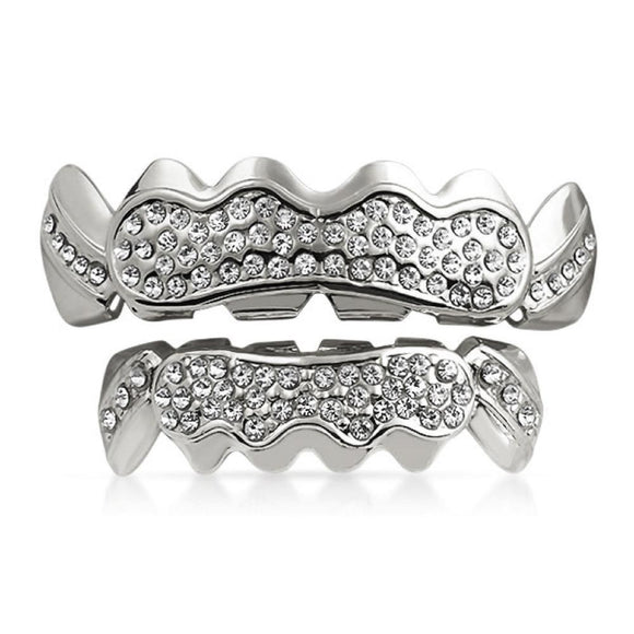 Grillz Custom Style Silver Teeth SET