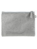 SHIMMER FINISH FABRIC CLUTCH MAKEUP POUCH - Presidential Brand (R)