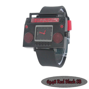 Red Boombox Urban Hip Hop Watch - Presidential Brand (R)