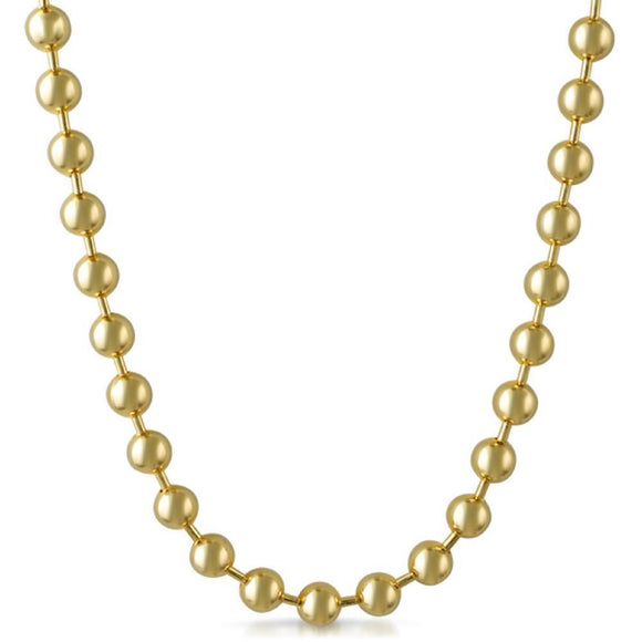 8MM Gold Bead Chain - Presidential Brand (R)